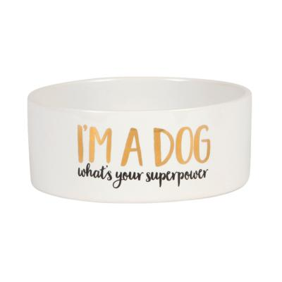 "Gamelle chien ""I'm a dog what's your superpower"""