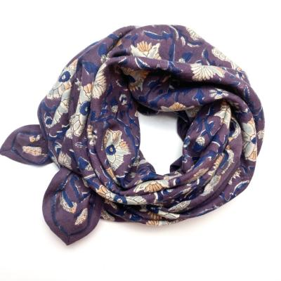 Foulard latika bird prune
