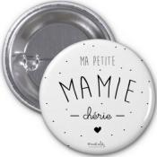 Badge Ma petite mamie chérie  Marcel & Lily